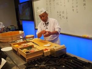 細工寿司世界一の田中先生。