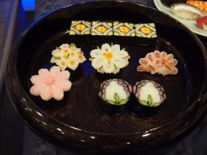 素晴らしい細工寿司、きれい!
